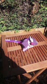 herbert sunbathing